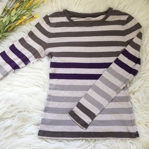 Old Navy Grey Striped Top